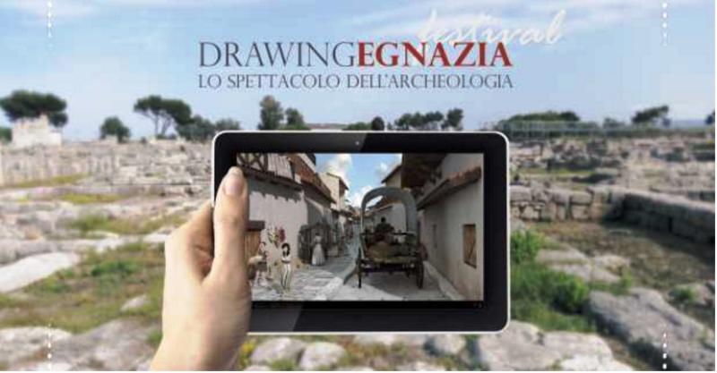 """DRAWING EGNAZIA  """"Lo spettacolo dell'Archeologia"""" al Parco archeologico di Egnazia, Savelletri di Fasano"""
