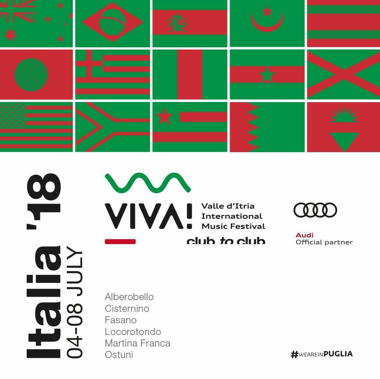 """Fasano prenderà parte a """"VIVA! Festival – Italia '18"""""""