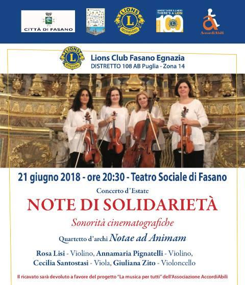 """Concerto di beneficenza -""""Note di Solidarietà"""""""
