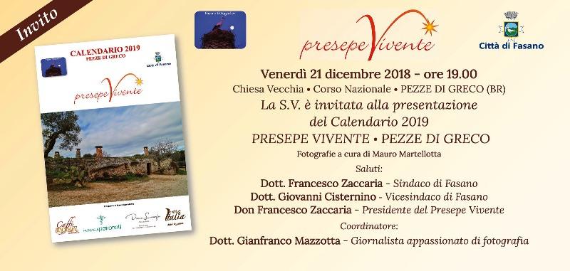 Presepe vivente di Pezze: presentazione del calendario 2019