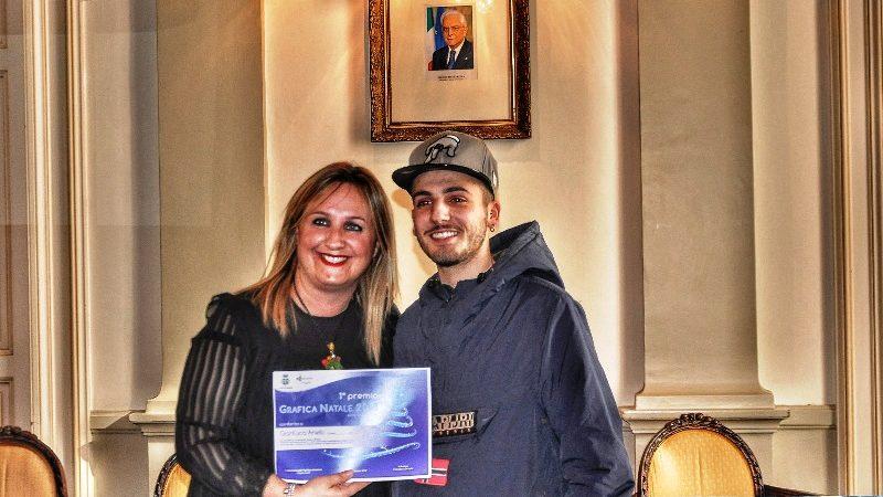 Premiato studente del Salvemini per la migliore bozza di manifesto natalizio