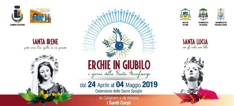 Erchie (Br) in Giubilo: alla festa i corpi di santa Lucia e sant'Irene