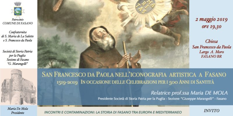 Una conferenza su san Francesco da Paola a Fasano