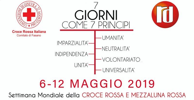 Iniziative per la Settimana della Croce Rossa 2019