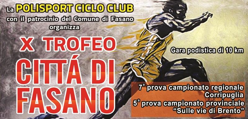 X Trofeo Città di Fasano, lunedì la presentazione